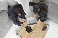 υπερυψωμένη όψη επιχειρη&sigma Στοκ φωτογραφία με δικαίωμα ελεύθερης χρήσης