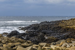 Υπερυψωμένο μονοπάτι γιγάντων στη Βόρεια Ιρλανδία Στοκ Εικόνες