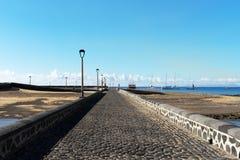 Υπερυψωμένο μονοπάτι στο νησάκι των Άγγλων Στοκ Εικόνες