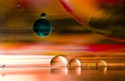 Υπερφυσικά έλαιο και νερό μακρινού διαστήματος Στοκ Φωτογραφίες