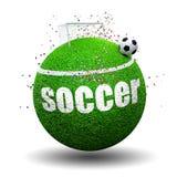 Υπερφυσική έννοια ποδοσφαίρου Στοκ Φωτογραφίες
