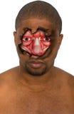 Υπερφυσικό πρόσωπο, άτομο, μυς, που απομονώνεται Στοκ Εικόνες