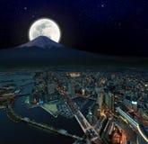 υπερφυσικό yokohama όψης νύχτας Στοκ φωτογραφία με δικαίωμα ελεύθερης χρήσης
