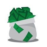Υπερχείλιση τσαντών χρημάτων διανυσματική απεικόνιση