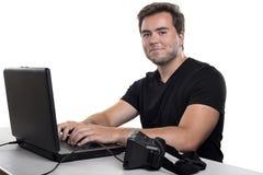 Υπεύθυνος για την ανάπτυξη εικονικής πραγματικότητας Στοκ Φωτογραφία