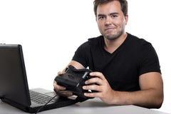 Υπεύθυνος για την ανάπτυξη εικονικής πραγματικότητας Στοκ Φωτογραφίες