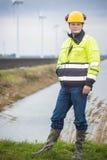 Υπεύθυνος για την ανάπτυξη προγράμματος σε ένα τοπίο Στοκ Εικόνες