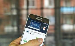 Υπεύθυνος για την ανάπτυξη PhoneGap πλίθας Στοκ Φωτογραφία