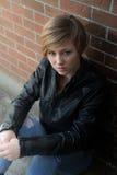 λυπημένος έφηβος κοριτσιών Στοκ εικόνες με δικαίωμα ελεύθερης χρήσης