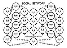 υπηρεσία δικτύου κοινωνική Στοκ Εικόνα