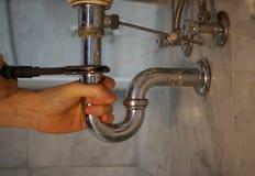 Υπηρεσία επισκευής υδραυλικών Στοκ Εικόνα