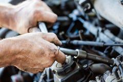 Υπηρεσία, επισκευή και συντήρηση αυτοκινήτων Στοκ Εικόνες