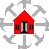 υπηρεσία λογότυπων σπιτι διανυσματική απεικόνιση