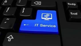 346 Υπηρεσία ΤΠ γύρω από την κίνηση στο κουμπί πληκτρολογίων υπολογιστών απόθεμα βίντεο
