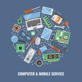 Υπηρεσία υπολογιστών γύρω από τη σύνθεση απεικόνιση αποθεμάτων