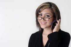 υπηρεσία υφασμάτων πελατών τηλεφωνικών κέντρων Στοκ Φωτογραφίες