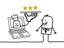 υπηρεσία online ατόμων μαγείρων ελεύθερη απεικόνιση δικαιώματος