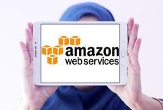 Υπηρεσίες Ιστού του Αμαζονίου, AWS, λογότυπο στοκ εικόνα