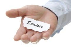 Υπηρεσίες - σειρά σημειώσεων Στοκ εικόνα με δικαίωμα ελεύθερης χρήσης