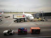 Υπηρεσίες τροφίμων Brahims για τη μαλαισιανή πτήση Στοκ Φωτογραφία