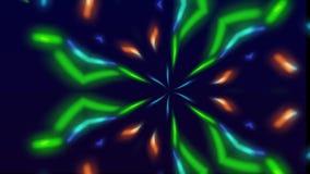 Υπνωτικό kaleidoscopic υπόβαθρο με τα χρώματα απόθεμα βίντεο