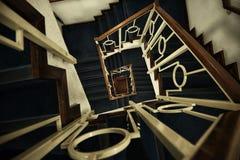Υπνωτικό stairwell Στοκ φωτογραφία με δικαίωμα ελεύθερης χρήσης
