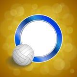 Υποβάθρου αφηρημένη απεικόνιση πλαισίων κύκλων σφαιρών πετοσφαίρισης μπλε κίτρινη Στοκ φωτογραφία με δικαίωμα ελεύθερης χρήσης