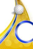 Υποβάθρου αφηρημένη κάθετη απεικόνιση πλαισίων κύκλων σφαιρών αθλητικής πετοσφαίρισης μπλε κίτρινη Στοκ Εικόνες