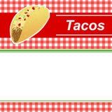 Υποβάθρου αφηρημένη τροφίμων απεικόνιση πλαισίων λωρίδων taco κόκκινη κίτρινη Στοκ εικόνα με δικαίωμα ελεύθερης χρήσης