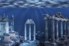 Υποβρύχια απεικόνιση καταστροφών ελεύθερη απεικόνιση δικαιώματος