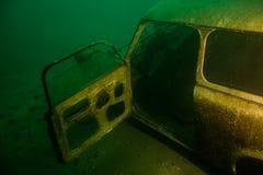 Υποβρύχια συντρίμμια αυτοκινήτων Στοκ Φωτογραφία