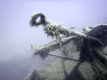 υποβρύχια συντρίμμια Υποβρύχιο ναυάγιο Στοκ φωτογραφία με δικαίωμα ελεύθερης χρήσης