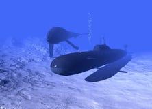 υποβρύχια φάλαινα Στοκ φωτογραφία με δικαίωμα ελεύθερης χρήσης