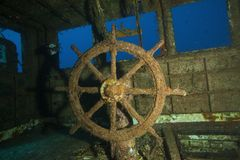 Υποβρύχιοι σκάφος και καπετάνιος στις Μαλδίβες Στοκ Εικόνες