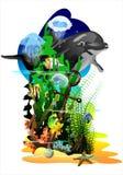 υποβρύχιος κόσμος (Διάνυσμα) Στοκ φωτογραφία με δικαίωμα ελεύθερης χρήσης