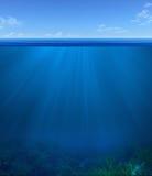 Υποβρύχιο τοπίο διανυσματική απεικόνιση