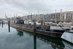 Υποβρύχιο του δεύτερου παγκόσμιου πολέμου στον κόλπο του λιμανιού Southampton στοκ εικόνες
