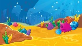 Υποβρύχιο υπόβαθρο παιχνιδιών στοκ εικόνες
