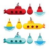 Υποβρύχιο ύφος κινούμενων σχεδίων Απεικόνιση αποθεμάτων