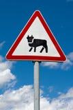 Υπογράψτε ένα ζώο στο δρόμο Στοκ εικόνα με δικαίωμα ελεύθερης χρήσης