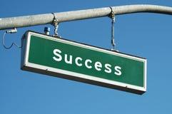 υπογράψτε την επιτυχία Στοκ Εικόνα