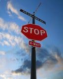 υπογράψτε τη στάση Στοκ φωτογραφία με δικαίωμα ελεύθερης χρήσης