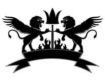 υπογράψτε το διάνυσμα λιοντάρι Στοκ Φωτογραφία