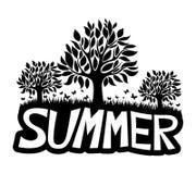 υπογράψτε το διάνυσμα Καλοκαίρι ελεύθερη απεικόνιση δικαιώματος