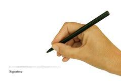 υπογραφή διαστιγμένων γρ&alp Στοκ Εικόνα