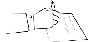υπογραφή εγγράφων διανυσματική απεικόνιση