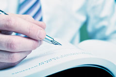Υπογραφή μανδρών πηγών Στοκ Εικόνες