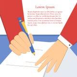 Υπογραφή μιας συμφωνίας Απεικόνιση αποθεμάτων