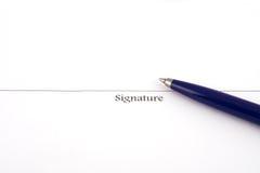 υπογραφή Στοκ φωτογραφία με δικαίωμα ελεύθερης χρήσης