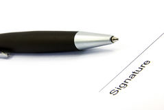 υπογραφή 2 στοκ εικόνες με δικαίωμα ελεύθερης χρήσης